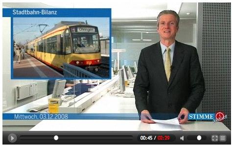 Stadtbahn-Bilanz bei Stimme-TV