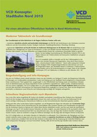 VCD-Konzept zur Stadtbahn Nord