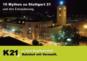 Zwölf Mythen über Stuttgart 21
