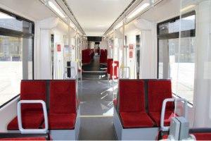 Neue AVG-Stadtbahn innen