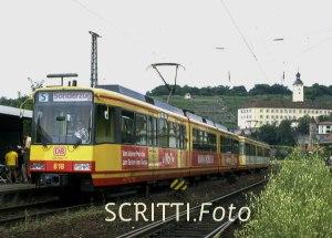Stadtbahn Nord: Sonderzug in Gundelsheim