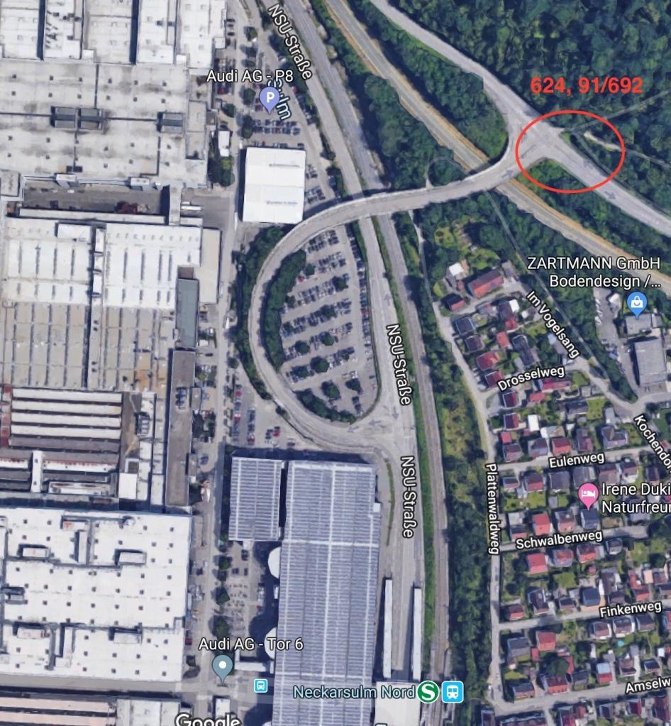 NSU-Straße-Abzweig